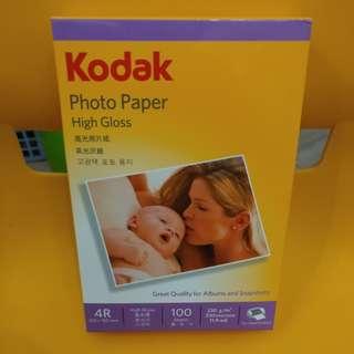 Kodak柯達 高光相片紙 4R 💯張  💯%🆕 High Gloss Photo Paper