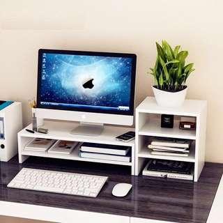 「現貨‼️現貨‼️」辦公室必備電腦螢幕架、桌面多功能收納、鍵盤收納、置物櫃