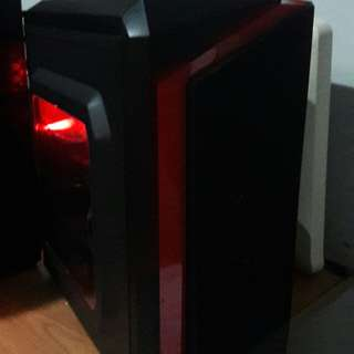 Custom red/black Intel i3 Gaming PC l for Overwatch, CSGO, Dota and LoL
