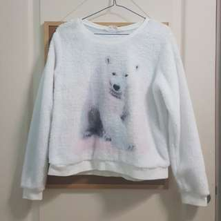 Fluffy Polar Bear Sweater