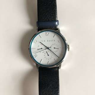 TED BAKER WATCH 手錶 Round leather strap watch