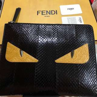 snake &crocodile skin fendi clutch