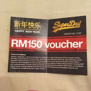 SuperDry cash voucher worth RM150