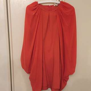 River Island shoulder drape dress