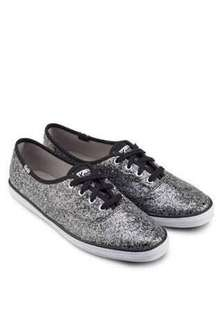 Authentic Keds Champion Glitters Black Sneakers Size 9
