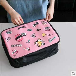 Cute Pink Handcarry Travel Bag Luggage with Decals