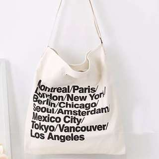 Brand New American Apparel Inspired Cities Tote Bag