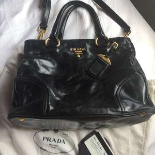 Prada handbag vitello shine