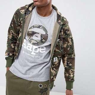 Aape 正版 迷彩 camo 連帽 外套 衛衣 Hoodie jacket tag bape size L