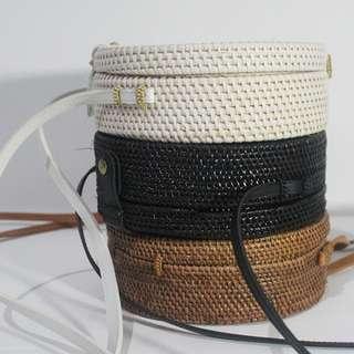 Bali rattan bag size 20cm