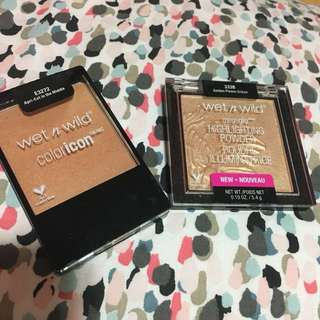 Wet N Wild Megaglo Highlighting Powder & blush