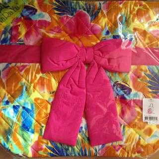 Naraya 中 size 彩色花圖案蝴蝶结上膊袋