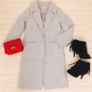 韓版 大衣外套 鋪棉