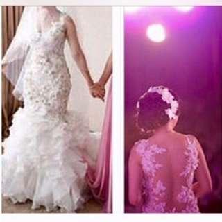 Nice Semi Mermaid Wedding Dress. Open for negotiation