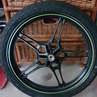 Y15 sniper standard rim and tyre.