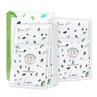 A. by Bom Super Power Baby Ultra Cool Leaf Mask 10 sheets per box