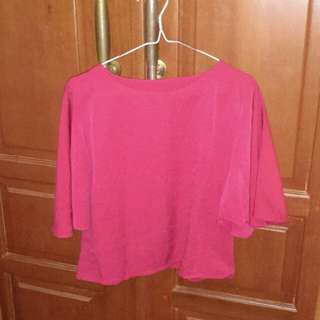Baju wanita model crop tee lengan model kalong murah sale