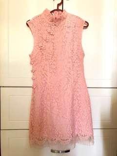 Lace Pink Cheongsam