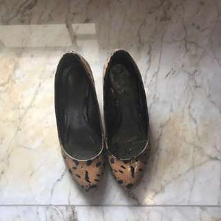 Charles & Keith Leopard Shoes Heels Pumps Wedges