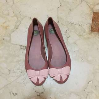 Melissa pink nude bow