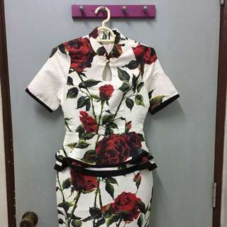 Cheongsam Dress 2in1
