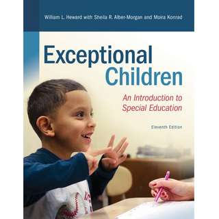 Exceptional Children An Introduction to Special Education 11th edition