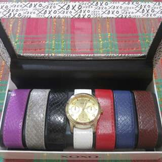 XOXO Interchangeable Strap Watch