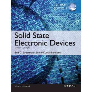 Solid State Electronic Devices 7th Global edition