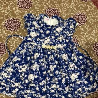 Blue white floral Lovely Lace