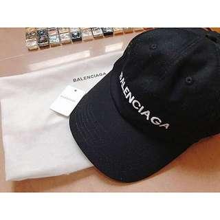 Balenciaga black classic cap joyce lane crawford italy paris 名牌黑色刺繡cap帽 太陽帽