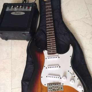 Package! Electric Guitar With Amplifier