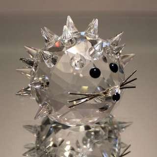 Swarovski Crystal Mini Hedgehog Rhodium Whiskers