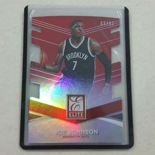 Legit Used 2014-15 Panini Donruss Elite Joe Johnson #d Card
