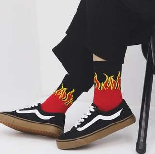 [READY STOCK] flame socks