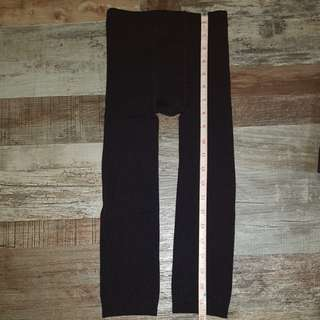 Black Leggings/Tights with inner fleece