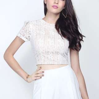 BN Fayth Khloe Lace Top (White)