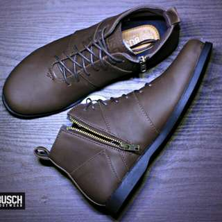 sepatu boots santai zipper resleting handmade BUSCH