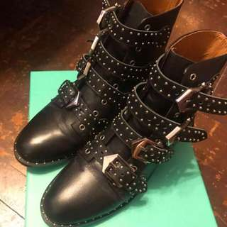 Givenchy chloe style stud boots