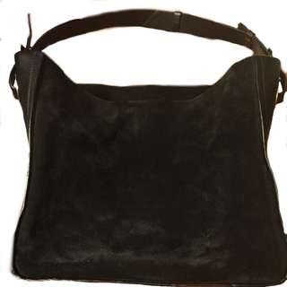 Zara 100%Cow Leather Black Handbag