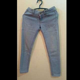 Celana jeans blue jeans pants bershka