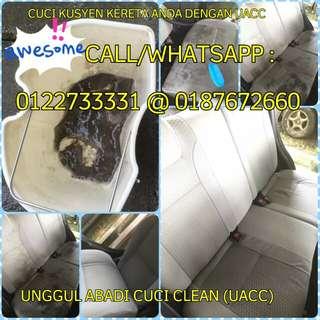 Cuci Kusyen & Dalaman Pelbagai Kereta Bermula SERENDAH RM 60 utk Kancil & Kelisa