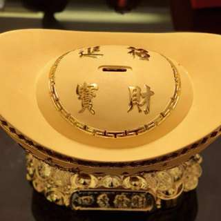 "Mega Size gold plated ""金元宝"" Jing Yuan Bao"