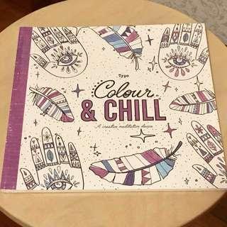 Typo Colour & Chill Colouring Book