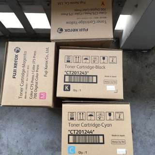 Brand new Fuji Xerox Color 75 press toners