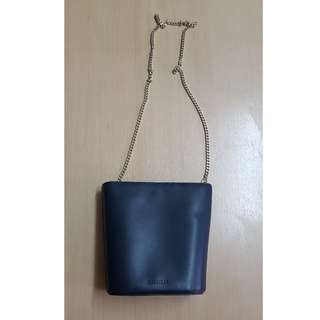 Whistles Sylvan Mini Chain Bucket Bag  (Navy)