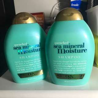 brand new OGX quenched sea mineral moisture shampoo (2 pcs)