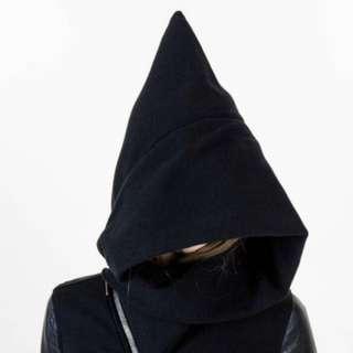 Rick Owens DS皮袖巫師帽外套