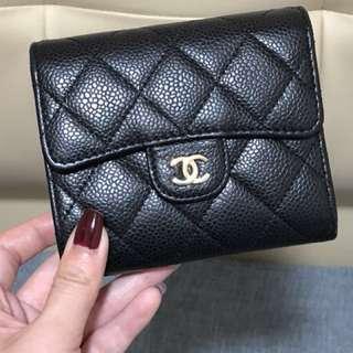 Authentic Chanel Caviar Short Wallet