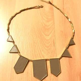 House of Harlow Leather Stations Necklace