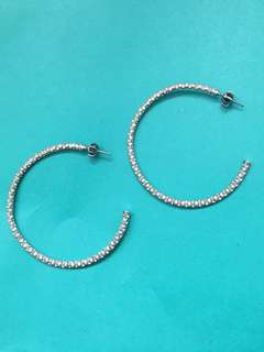 Juicy Couture silver hoop earrings